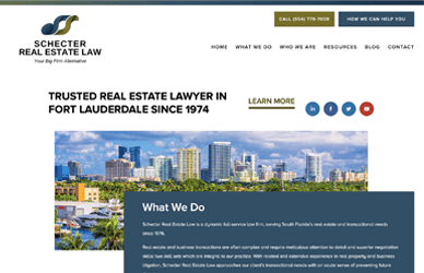 Screenshot of floridarealestate.law home page