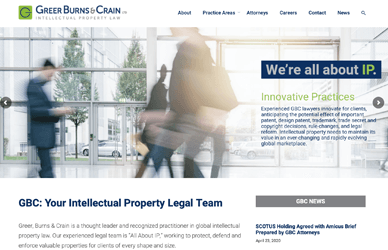 Screenshot of gbc.law home page
