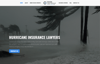 Screenshot of hurricane.law home page